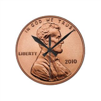 Penny Round Clock