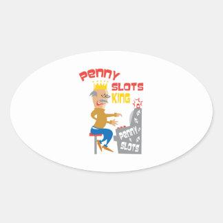 Penny Slots King - Customize It Oval Sticker