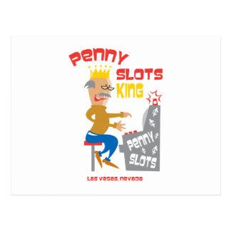Penny Slots King - Las Vegas Nevada Postcard