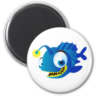 Penny The Piranha 2 Inch Round Magnet