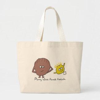 Penny Wise Pound Foolish Large Tote Bag