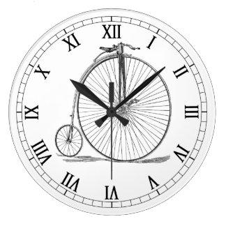Pennyfarthing Large Clock