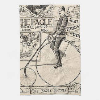 Pennyfarthing Old' Timey Victorian Bicycle Ad Hand Towel
