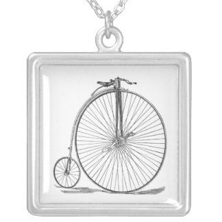 Pennyfarthing Silver Plated Necklace
