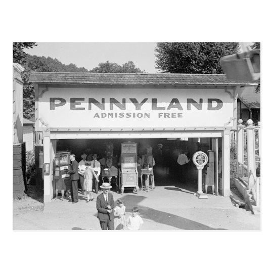 Pennyland Arcade, 1928 Postcard