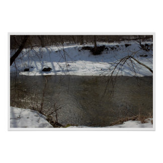Pennypack Creek Winter Poster