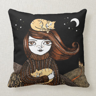 Penny's Pusscats Throw Pillow
