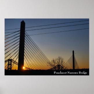 Penobscot Narrows Bridge Poster - 1