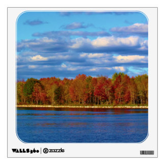 Penobscot River Autumn Scenery Wall Skin