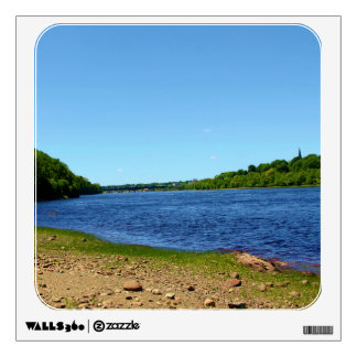 Penobscot River in Brewer, Maine Room Stickers