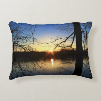 Penobscot River Sunrise Decorative Pillow