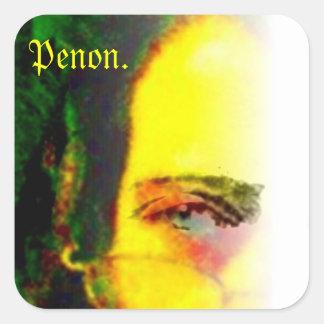Penon. Square Sticker