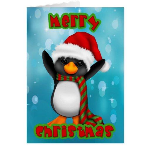 Penquin  Christmas Card