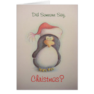 Penquin Christmas Card 2011