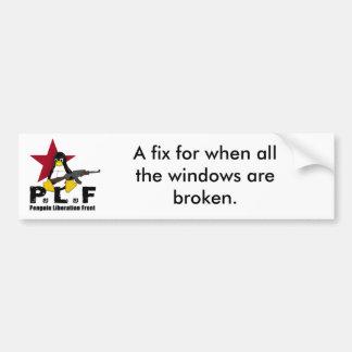 Penquin Liberation Front Awareness. Bumper Sticker