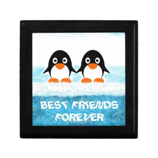 Penquin lindo en los Caja-Mejores amigos del icebe Cajas De Recuerdo