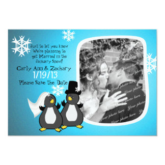 Penquin Photo Save the Date Card