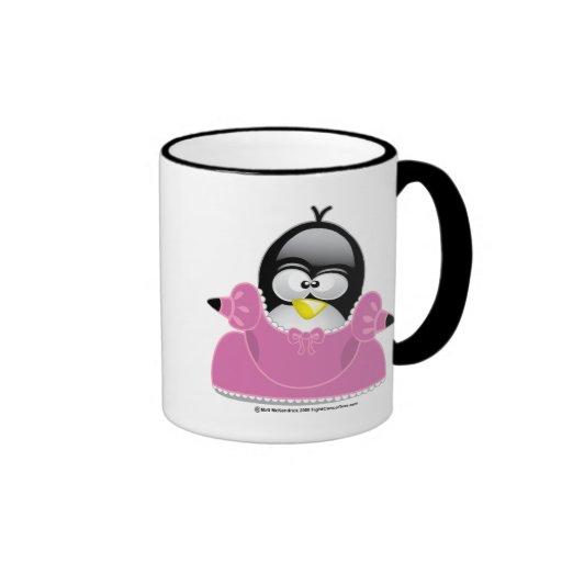 Penquin Princess Ringer Coffee Mug