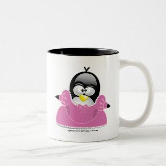 Penquin Princess Two-Tone Coffee Mug