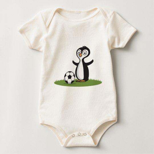 Penquin Soccer Baby Bodysuit