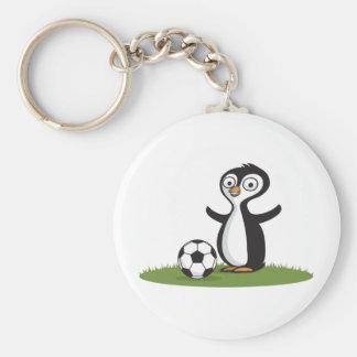 Penquin Soccer Keychains