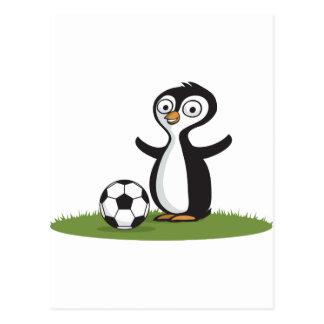 Penquin Soccer Postcard