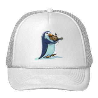 penquin violin player trucker hat