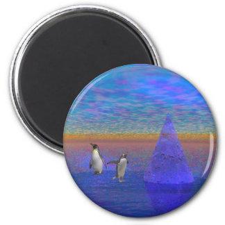 Penquinland 2 Inch Round Magnet