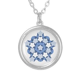 Penrose Blue Tile Necklace