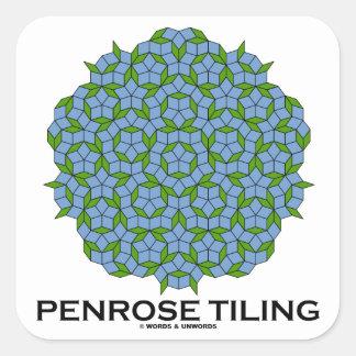 Penrose Tiling (Five-Fold Symmetry) Square Sticker