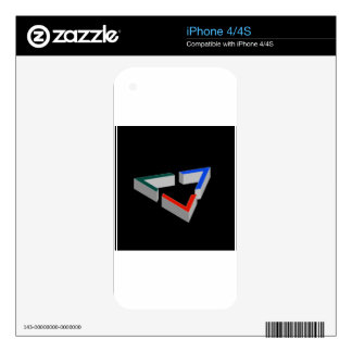 Penrose triangle decals for the iPhone 4
