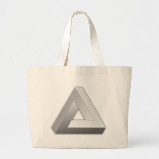 Penrose Triangle Large Tote Bag