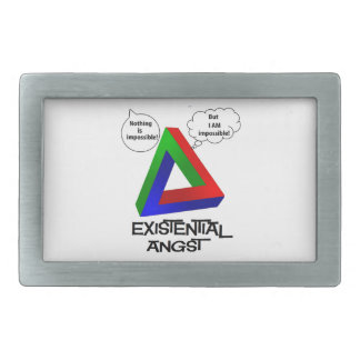 Penrose Triangle - Nothing is Impossible Rectangular Belt Buckles