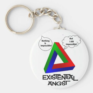 Penrose Triangle - Nothing is Impossible Basic Round Button Keychain