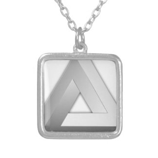 Penrose Triangle Silver Plated Necklace