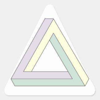 Penrose triangle. triangle sticker