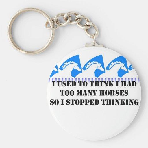 Pensaba que tenía demasiados caballos llaveros personalizados