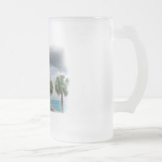 Pensacola Bay Frosted Glass Beer Mug