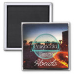 Pensacola Beach 2 Inch Square Magnet
