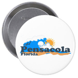 Pensacola Beach. 4 Inch Round Button
