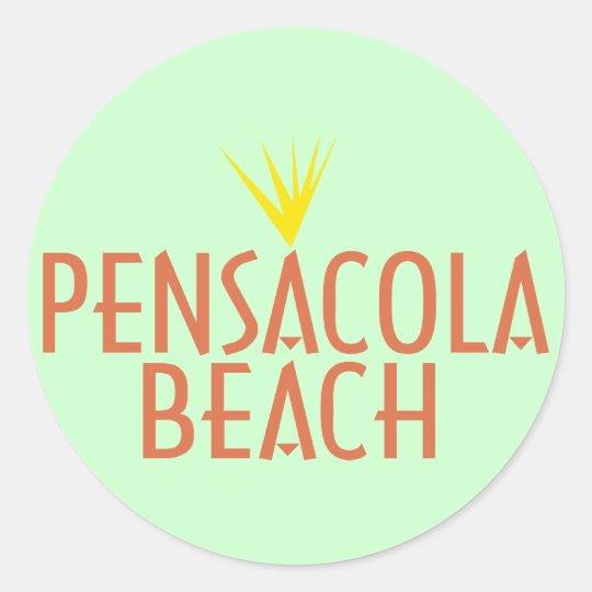 Pensacola Beach Classic Round Sticker