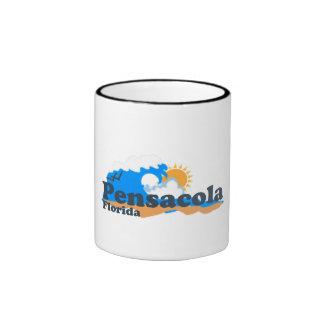 Pensacola Beach. Ringer Coffee Mug