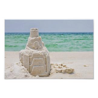 Pensacola Beach Sand Castle Photo Print