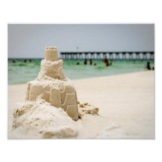 Pensacola Beach Sandcastle Photo Print