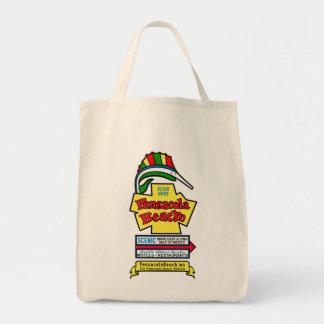 Pensacola Beach Sign Grocery Tote Bag
