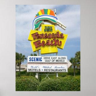 Pensacola Beach sign Posters