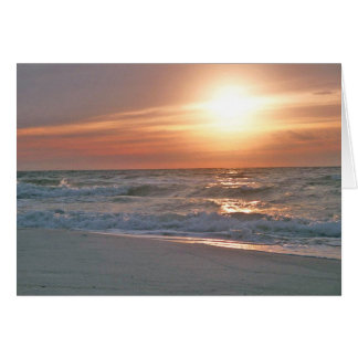 Pensacola Beach Sunrise Card