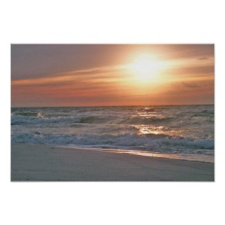 Pensacola Beach Sunrise Poster print