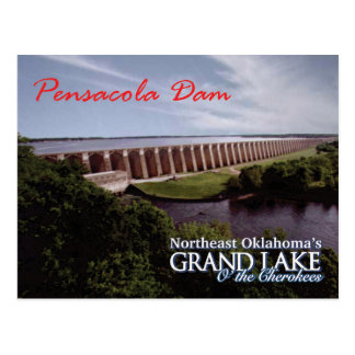 Pensacola Dam...Grand Lake OK  post card v2