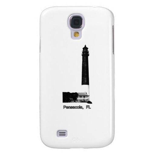 Pensacola FL Lighthouse Black The MUSEUM Zazzle Gi Samsung Galaxy S4 Case